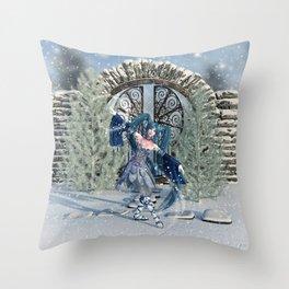 Winter Sprite Throw Pillow