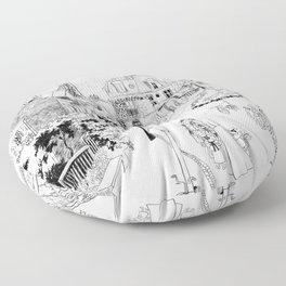 Madeline Montmartre Black&White Floor Pillow
