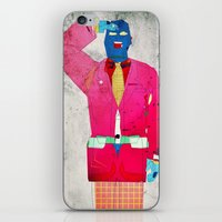 suit iPhone & iPod Skins featuring Suit Salute by Alec Goss