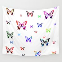 butterflies Wall Tapestries featuring Butterflies. by haroulita