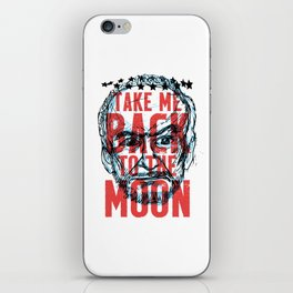 Buzz Aldrin's Face: Take Me Back to the Moon! iPhone Skin