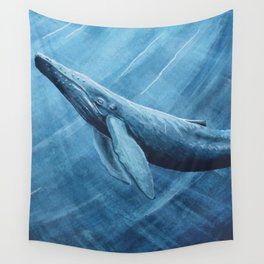 Watercolor Whale Wall Tapestry