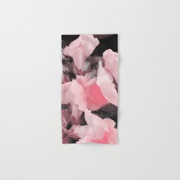 Light Pink Snapdragons Abstract Flowers Hand & Bath Towel