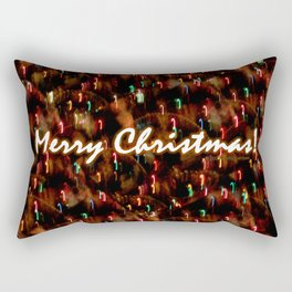 Neon Christmas Candy Canes Rectangular Pillow