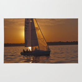 Sail into the sunset Rug