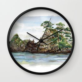 Whangapoua island , Coromandel peninsula , New Zealand Wall Clock