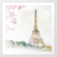 eiffel tower Art Prints featuring Eiffel Tower by NKlein Design