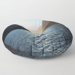 Nordic Sunset at Aurlandsfjord, Norway Floor Pillow