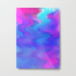 Cotton Candy Waves Metal Print