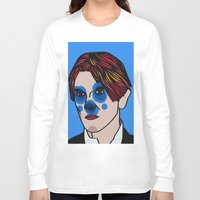 david bowie Long Sleeve T-shirts featuring David Bowie by Arnaud Pagès
