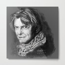 Grey Shades Of Bowie Metal Print
