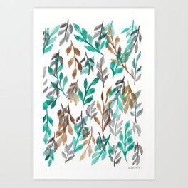 180726 Abstract Leaves Botanical 2|Botanical Illustrations Art Print