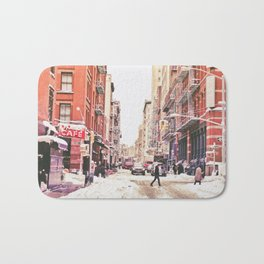 New York City Snow Soho Bath Mat