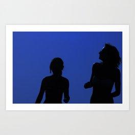 Two Girls In the Sun Art Print