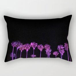Purple Palm Trees - Palms Reflecting in Your Eyes Rectangular Pillow