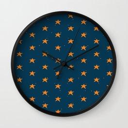 Lazy Stars (Blueberry/Tangerine) Wall Clock