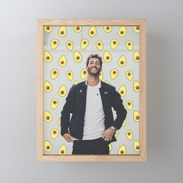 Daniel Ricciardo; avocado. Framed Mini Art Print