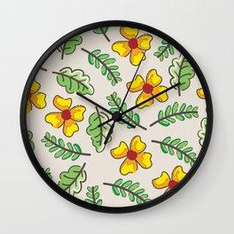 Yellow Flowers Garden Wall Clock