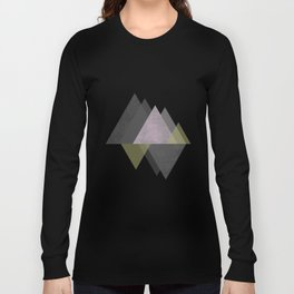 To the Mountains I Must Go, Abstract Geometric Art Long Sleeve T-shirt