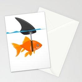 shark fish mindset confidence funny gift Stationery Cards