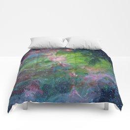 Eagle Nebula Gouache Painting Impressionistic Illustration Comforters