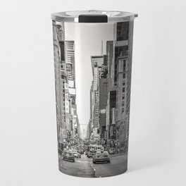 Sunset on 7th (Black and White Version) Travel Mug