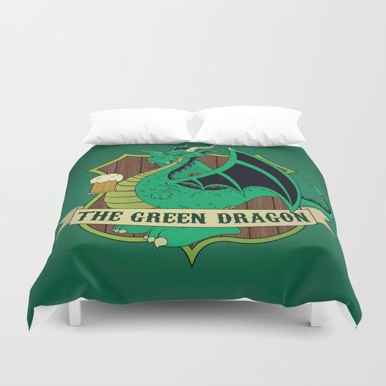 The Green Dragon Pub Duvet Cover