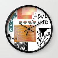 tits Wall Clocks featuring I love tits (overandover) by Marta Veludo