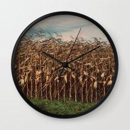 Corn Field Wall Clock