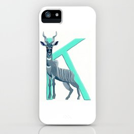 K is for Kudu Letter Alphabet Decor Design Art Pattern iPhone Case