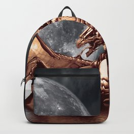 Mystical Dragon and Moon Fantasy Design Backpack