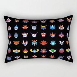 071b 70s Robots color Rectangular Pillow