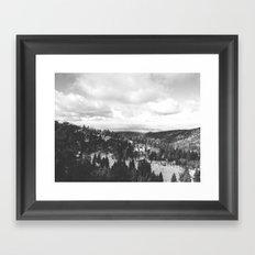 Mountains and Desert view Framed Art Print
