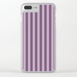 Lilac Purple Stripes Pattern Clear iPhone Case
