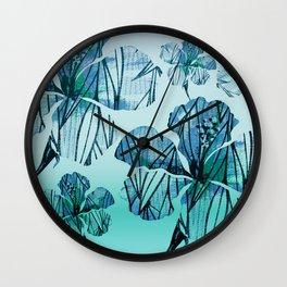 Vintage Hawaiian Floral Minimalism Wall Clock