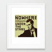 kerouac Framed Art Prints featuring Jack Kerouac by Zerflin
