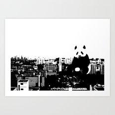 Giant Panda Invades Toa Payoh. Art Print