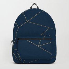 Golden Crystal Web Pattern Backpack