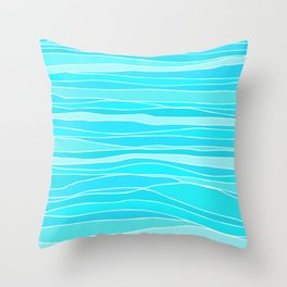 Caribbean Sea / Abstract Pattern Throw Pillow