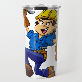 Running man with a wrench Travel Mug