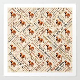 Dogue de Bordeaux Word Art Art Print