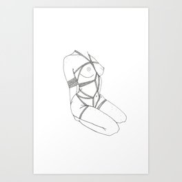 tied up Art Print