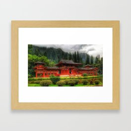Byodo-In Temple, Oahu Framed Art Print
