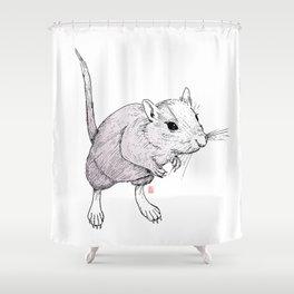 Gerbil On Shower Curtain