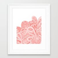 paisley Framed Art Prints featuring Paisley by Laurie Mildenhall