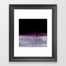 Squall Monochrome Framed Art Print