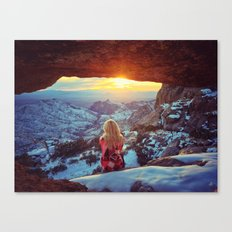 Reminiscing at sunset Canvas Print
