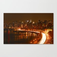 New York City Night Skyline. Canvas Print