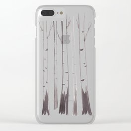 Birch Grove - ink painting Clear iPhone Case