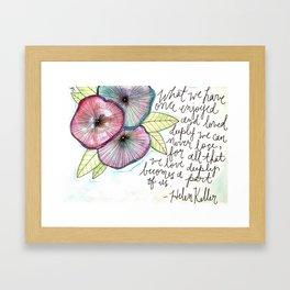 Helen Keller Framed Art Print